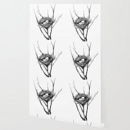 Bird Nest Ink Drawing Wallpaper