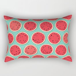 watermelon polka mint Rectangular Pillow