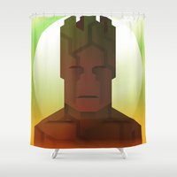 guardians of the galaxy Shower Curtains featuring Guardians of the Galaxy - Groot by Casa del Kables