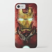 iron man iPhone & iPod Cases featuring Iron Man by SachsIllustration