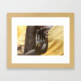 Buddha Hand Illustration Framed Art Print