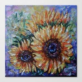Ah, Sunflower by Lena Owens Canvas Print