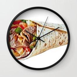 Kebab shish shashlik cooked skewer gyros now ubiquitou Wall Clock