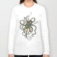tapestry Long Sleeve T-shirts featuring Octopsychedelia by TAOJB