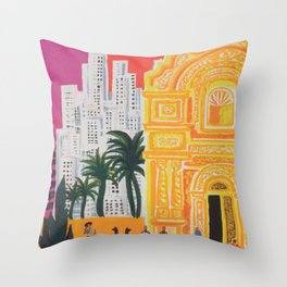 South America Vintage Travel Poster Throw Pillow