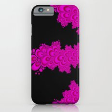 pink and black fractal iPhone 6s Slim Case