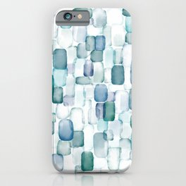 Sea Glass Watercolor iPhone Case