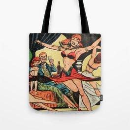 Dancer vintage comic art Tote Bag