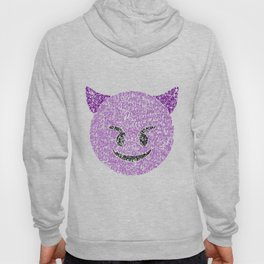 Emoji Calligraphy Art :Smiling face with horns Hoody