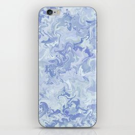 Light Denim Marble iPhone Skin