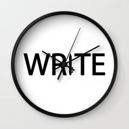 Write what you feel Wall Clock