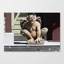 Porch Guardian Canvas Print