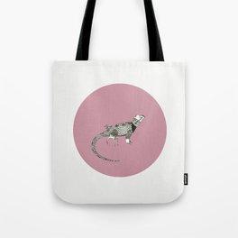 Black and White Lizard Tote Bag