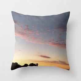 Pink California Sunset Throw Pillow
