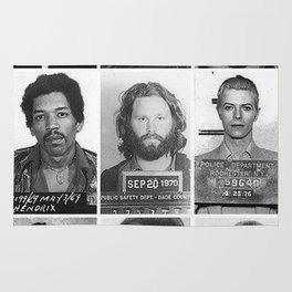 Rock and Roll Mug Shots Rug