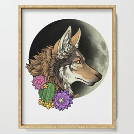 coyote night Serving Tray