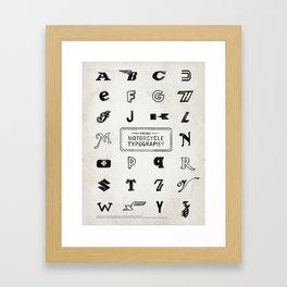 Vintage Motorcycle Typography Framed Art Print