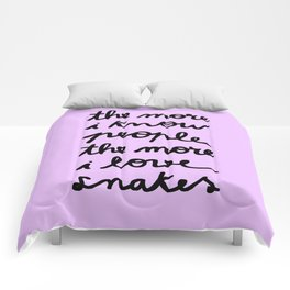 ALL MY FRIENDS ARE SNAKES Comforters
