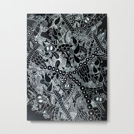 Wild Things Black and White Metal Print