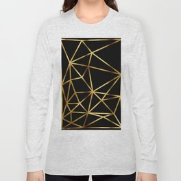 In Gold Triangles. Art Deco. Long Sleeve T-shirt
