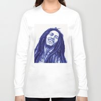 marley Long Sleeve T-shirts featuring Marley ballpoint pen  by David Kokot