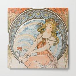 Alphonse Mucha (Alfons Mucha) abst-58 Metal Print