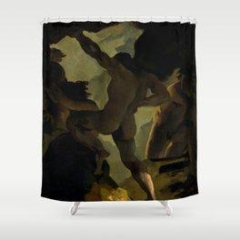 """Théodore Géricault """"Épisode de la Guerre des Titans"""" Shower Curtain"""