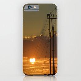 High Voltage Sunset iPhone Case