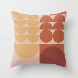 Pink & Brown Throw Pillow