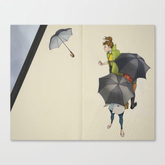 Au Revoir, Parapluie Canvas Print