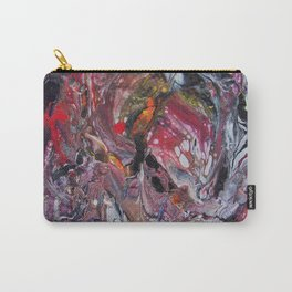 dark red acrylic pouring Carry-All Pouch