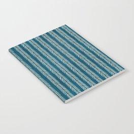 Mud cloth Teal Arrowheads Notebook