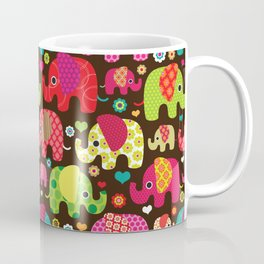 Colorful Elephants Coffee Mug