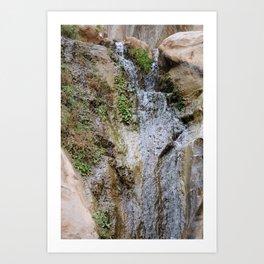 Cliffs of Israel Waterfall Series #6 Art Print