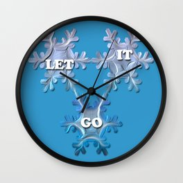 Let it Go  / Inspired by Frozen Wall Clock