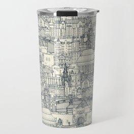 Edinburgh toile indigo pearl Travel Mug