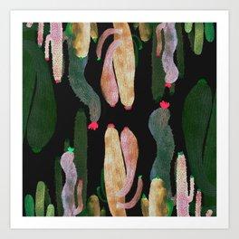 Mirror Cactus Art Print