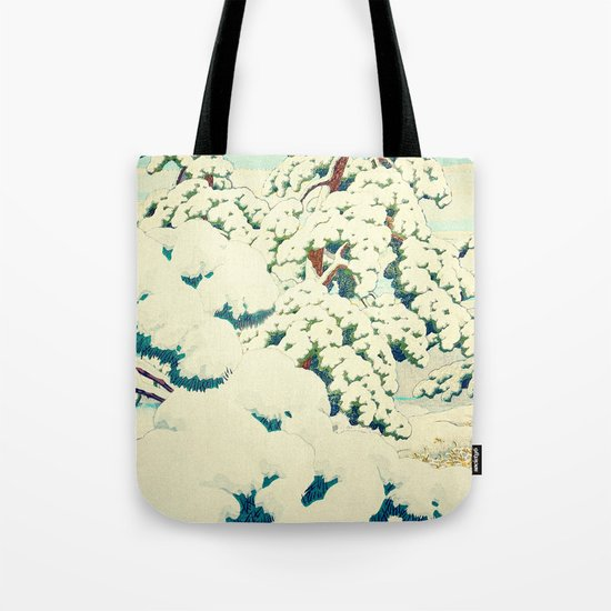 A Morning in the Snow Tote Bag