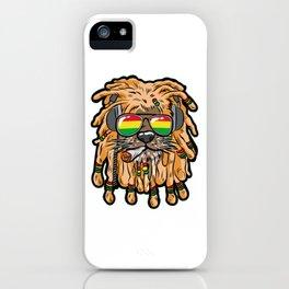 RASTA LION Joint Smoking Weed 420 Ganja Pot Hash iPhone Case