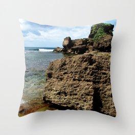 Rincon @ secret spot Throw Pillow