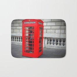 London Phone Booth Bath Mat