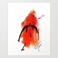 Retro  Chic Runway Dress 1 Art Print