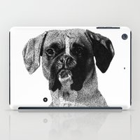 boxer iPad Cases featuring Boxer by Nuria Galceran