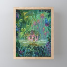 Raindrop Village by Erica Kilbourn Framed Mini Art Print