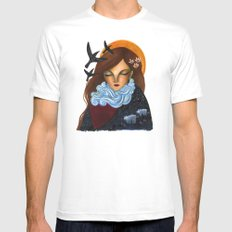 Mother Nature MEDIUM Mens Fitted Tee White