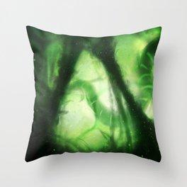 Alien Algae World Throw Pillow