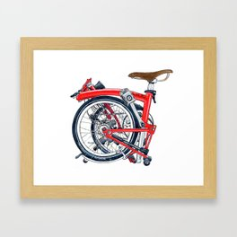Brompton Folded red painting Framed Art Print