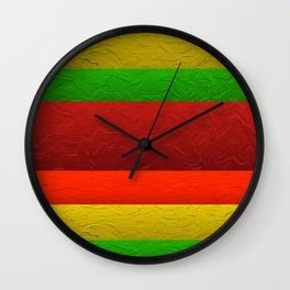 Rasberry Tea With Lemon Lime Wall Clock