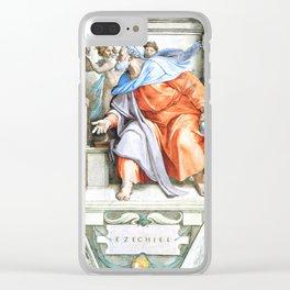 "Michelangelo Buonarroti  ""Prophet Ezekiel"" Clear iPhone Case"