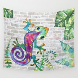 Tropical Gecko Wall Tapestry